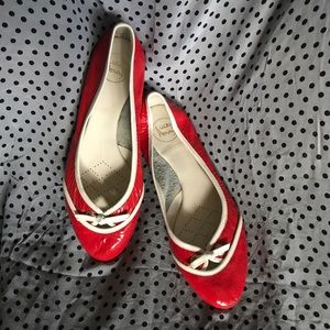 Anthropologie RED Patent leather Ballet Flats 9M